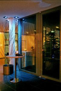 Birke ohne Laub als Eyecatcher und Deko für Foyer oder Christmas Event