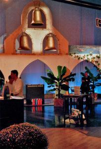 Banane Pflanze für karibische Lounge Atmosphäre auf Messestand & Event
