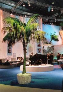 Karibik & Urlaub Feeling Palmen leihen zur Deko für Messe & Location