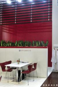 Sanseveria als stylisch bepflanzte Trennwand von Decher Mietpflanzen