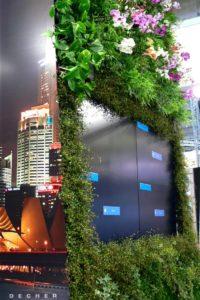 Wandbepflanzung und Standbegrünung für Messebau von Gärtnerei Decher
