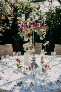 Wunderschöne Hochzeitsdeko mit Silberleuchter - Glashaus Decher Karben