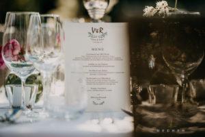 Leckeres exklusives Hochzeitscatering klassisch mit gesetztem Menü