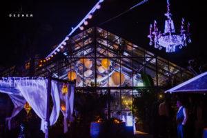 Außergewöhnliches Event-Gewächshaus für Hochzeit im Frankfurter Raum