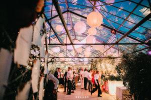 Lichtdesign für Hochzeit im Glashaus Decher in Karben bei Frankfurt